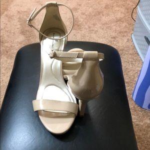 Nude 3 1/2 inch heels